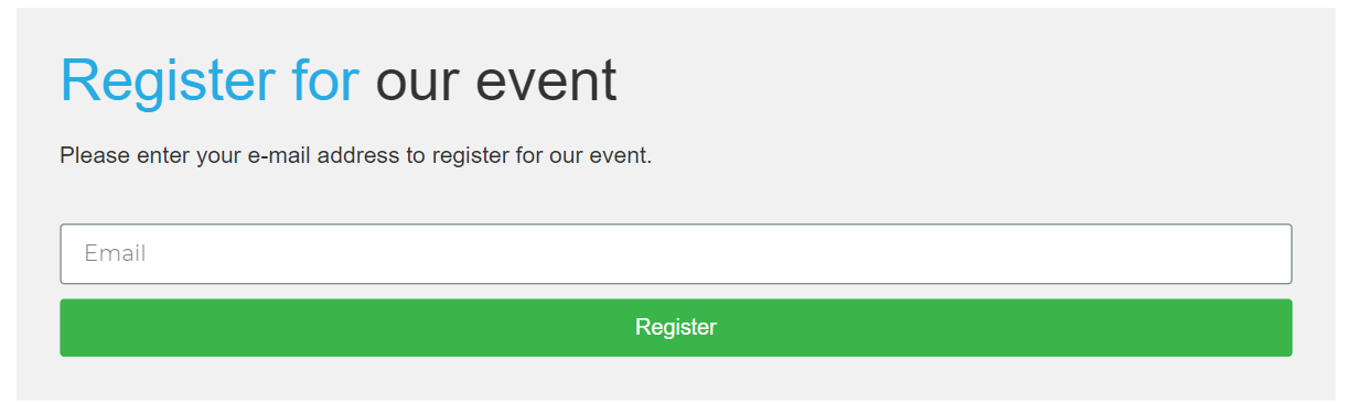 Simple event registration will drive virtual event success