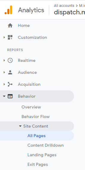 How to find high traffic blog posts in Google Analytics