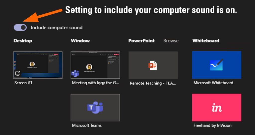 include computer audio